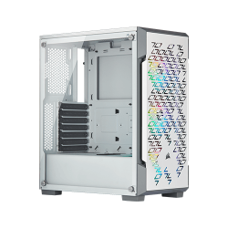 Corsair Icue 220t Rgb Airflow Tempered Glass Mid-tower Smart Case (White)
