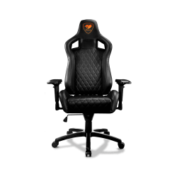 Cougar Armor s Black Premium Breathable PVC Leather Gaming Chair